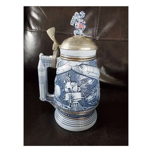 Conquest of Space vintage beer stein by Avon